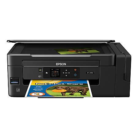 Epson® Expression® ET-2650 EcoTank® Wireless Color Inkjet All-In-One Printer, Scanner, Copier, C11CF47201