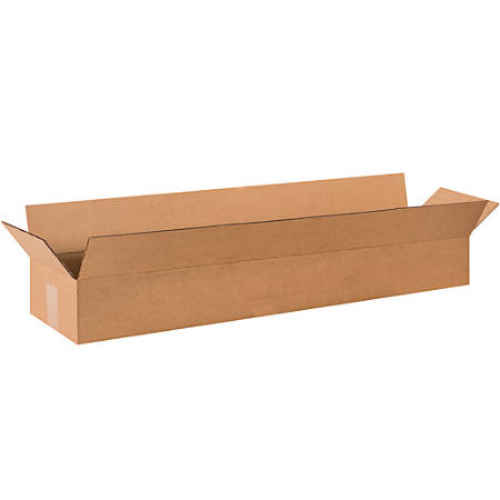 "Office Depot® Long Corrugated Boxes, 36"" x 8"" x 4"", Kraft, Pack Of 25 Boxes"