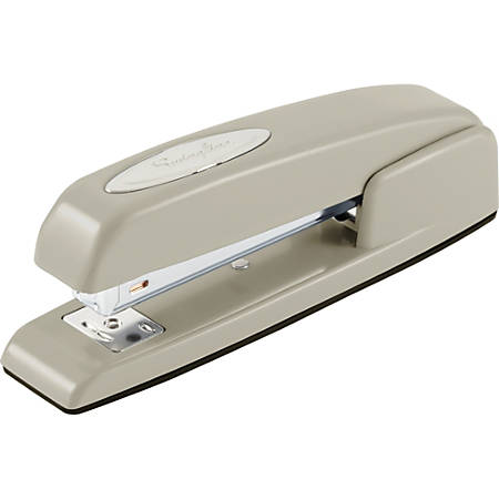 """Swingline® 747® Business Stapler, 25 Sheets, Steel Gray - 25 Sheets Capacity - 210 Staple Capacity - Full Strip - 1/4"""" Staple Size - Steel Gray"""