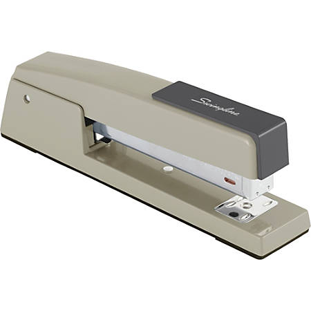 "Swingline® 747® Classic Stapler, 20 Sheets, Steel Gray - 20 Sheets Capacity - 210 Staple Capacity - Full Strip - 1/4"" Staple Size - Steel Gray"