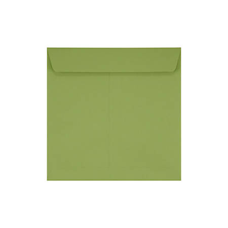 """LUX Square Envelopes With Moisture Closure, 7 1/2"""" x 7 1/2"""", Avocado Green, Pack Of 250"""