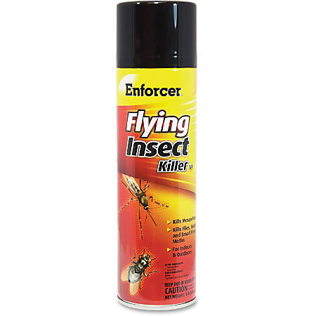 Enforcer Flying Insect Killer - Spray - Kills Mosquitoes, Cockroaches, Flies, Gnats, Moths - 16 fl oz - Clear
