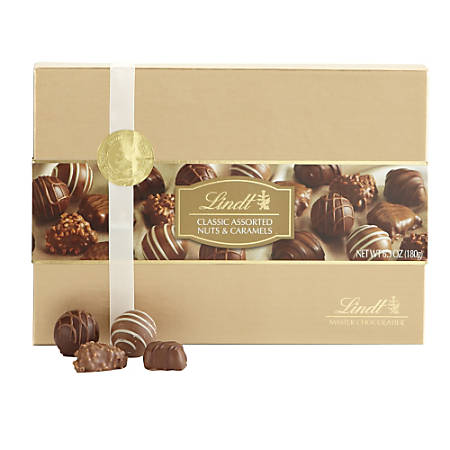 Lindt Chocolate, Caramel And Nut Assortment, Gold Gifting, Box Of 13