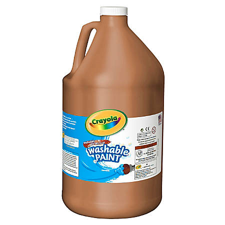 Crayola 1 Gallon Washable Paint - 1 gal - 1 Each - Brown
