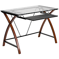 Superbe Flash Furniture Glass Computer Desk With