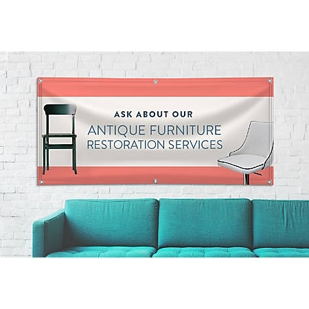 Custom Banner, Scrim, 6' x 3'