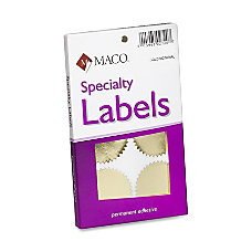 Maco Notary Gold Foil Seals Round