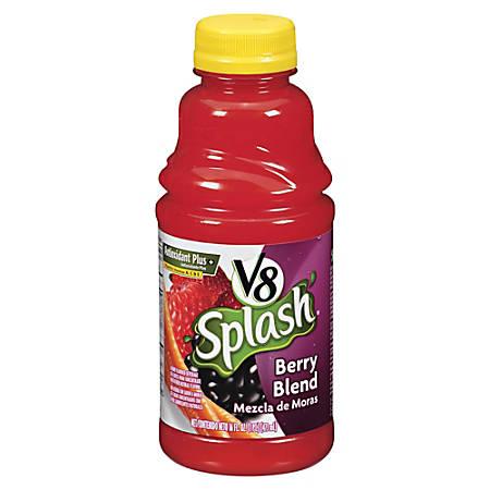 V8® Splash Fruit Juices, Berry Blend, 16 Oz., Box Of 12