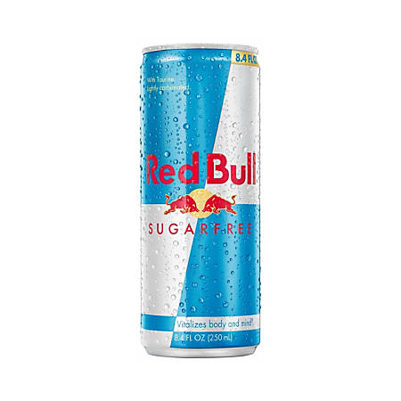 Red Bull® Sugar-Free Energy Drink, 8.3 Oz., Box Of 24