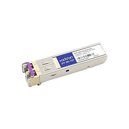 AddOn MSA and TAA Compliant 1000Base-CWDM SFP Transceiver (SMF, 1490nm, 40km, LC)