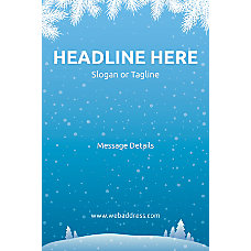Custom Poster Winter Snowflakes Vertical