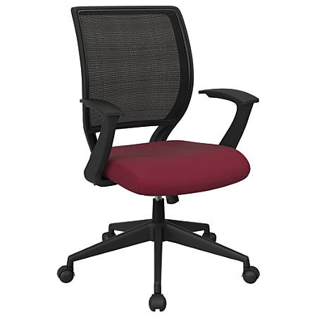 Office Star™ Work Smart Mesh Task Chair, Cabernet/Black