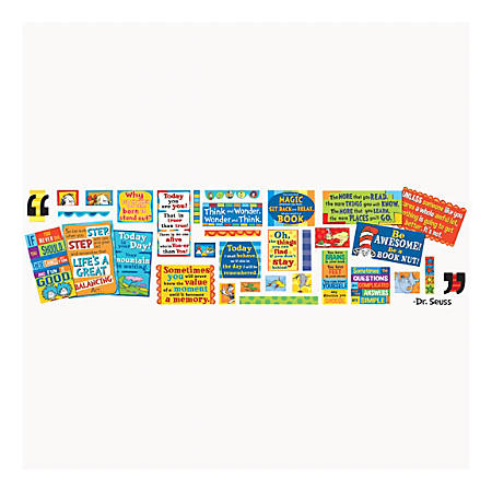 "Eureka Dr. Seuss™ 35 Quotes Bulletin Board Set, 8"" x 12"", Multicolor, Pre-K - Grade 12"