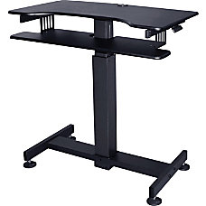 Lorell Mobile Standing Desk Rectangle Top