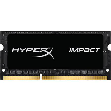HyperX Impact 8GB DDR3L SDRAM Memory Module - For Notebook - 8 GB (1 x 8 GB) - DDR3-2133/PC3-17000 DDR3L SDRAM - CL11 - 1.35 V - Non-ECC - Unbuffered - 204-pin - SoDIMM