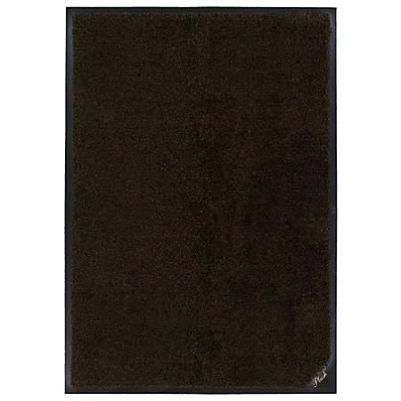 "The Andersen Company Colorstar Plush Floor Mat, 36"" x 48"", Black/Brown"