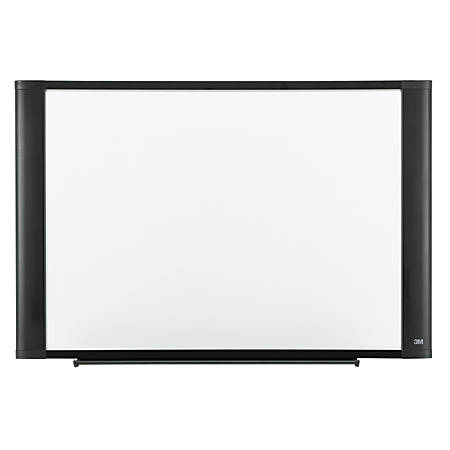 """3M™ Melamine Dry-Erase Board With Widescreen-Style Aluminum Frame, Graphite Finish, 36"""" x 48"""""""