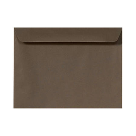 "LUX Booklet Envelopes With Moisture Closure, #9 1/2, 9"" x 12"", Chocolate Brown, Pack Of 50"