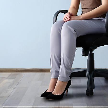 "Cleartex Megamat Hard Floor/All Pile Chair Mat - Home, Workstation, Hard Floor, Carpet, Office - 35"" Length x 47"" Width - Rectangle - Polycarbonate - Clear"