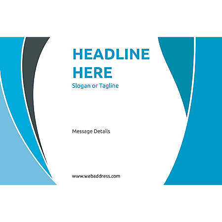 Horizontal Banner, Blue Curves