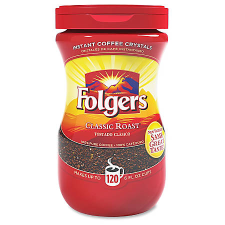 Folgers® Classic Roast Instant Coffee Crystals, 8 Oz