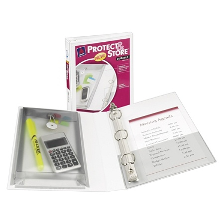 avery protect and store mini view binder 8 12 x 5 12 1 rings