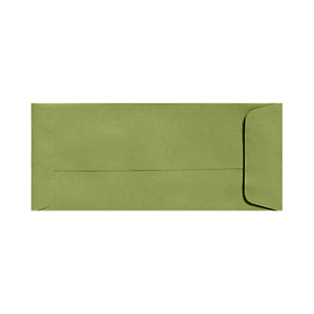 """LUX Open-End Envelopes With Moisture Closure, #10, 4 1/8"""" x 9 1/2"""", Avocado Green, Pack Of 500"""