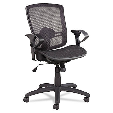 Alera Etros Series Mesh Mid-Back Chair, Black