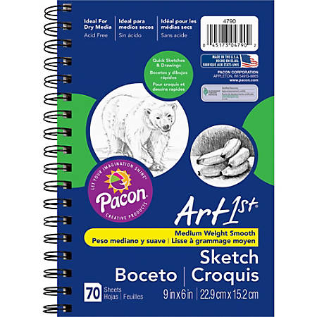 """Pacon® Art1st® Sketch Diary, 9"""" x 6"""", 70 Sheets"""