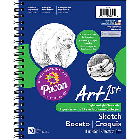 """Pacon® Art1st® Sketch Diary, 11"""" x 8 1/2"""", 70 Sheets"""