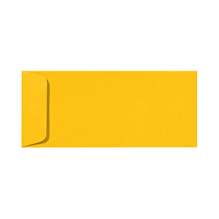 """LUX Open-End Envelopes With Peel & Press Closure, #10, 4 1/8"""" x 9 1/2"""", Sunflower Yellow, Pack Of 50"""