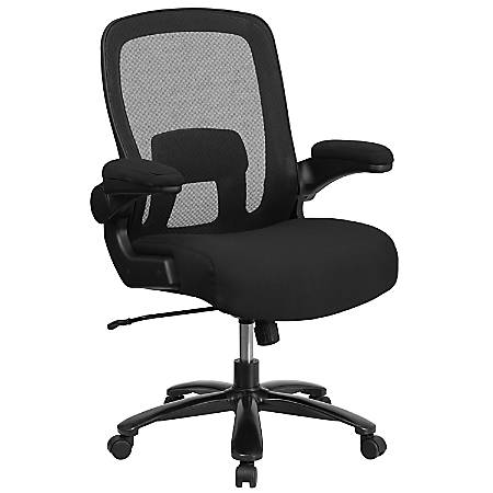 Flash Furniture HERCULES Fabric High-Back Big And Tall Ergonomic Office Chair, Black