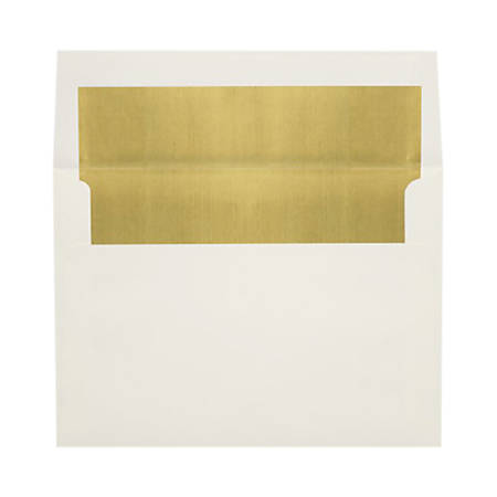 """LUX Invitation Envelopes With Peel & Press Closure, A8, 5 1/2"""" x 8 1/8"""", Gold/Natural, Pack Of 250"""
