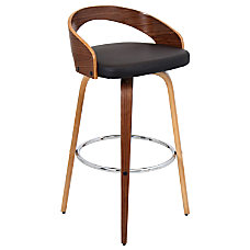 Lumisource Grotto Bar Stool BrownWalnut