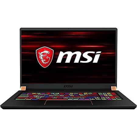 "MSI GS75 Stealth-247 - Core i7 9750H / 2.6 GHz - Win 10 Pro - 32 GB RAM - 512 GB SSD NVMe - 17.3"" 1920 x 1080 (Full HD) - GF RTX 2080 - 802.11ac, Bluetooth - matte black with gold diamond cut"