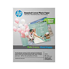 HP Advanced Rounded Corner Photo Paper