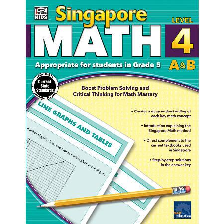 Thinking Kids'® Singapore Math Workbook, Grade 5