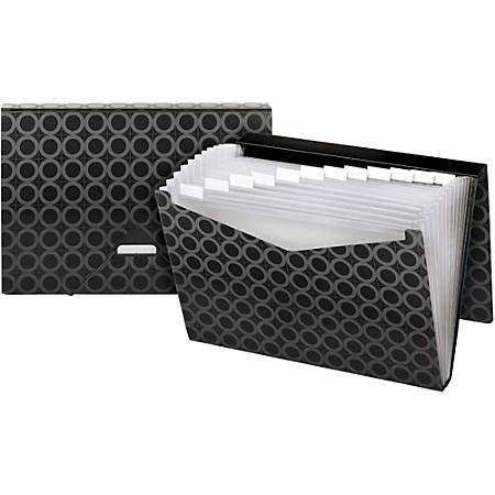 Pendaflex® Poly 13-Pocket Expanding File, Letter Size, Black