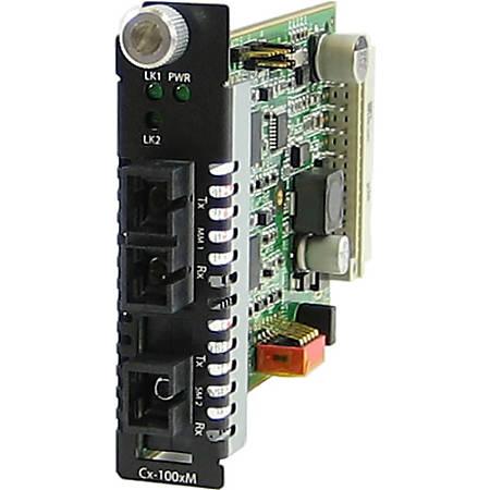 Perle C-1000MM-S1SC40D Media Converter - 2 x SC Ports - 1000Base-SX, 1000Base-BX-D - Internal