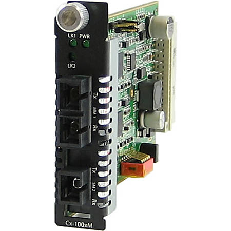 Perle CM-1000MM-S1SC40U Media Converter - 1 x SC Ports - 1000Base-BX-U, 1000Base-SX - Internal