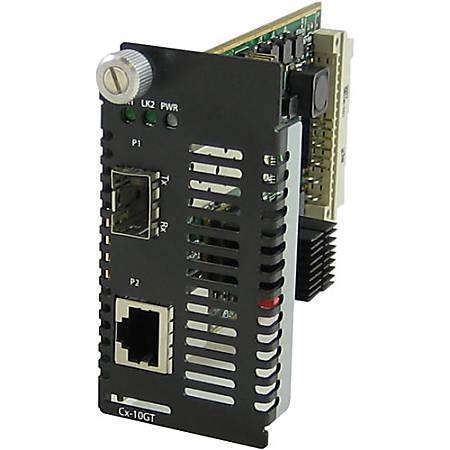Perle 10 Gigabit Ethernet Managed Media Converter Module - 1 x Network (RJ-45) - 10GBase-T - 1 x Expansion Slots - 1x XFP Slots - Internal