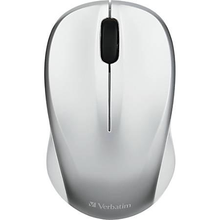 Verbatim Silent Wireless Blue LED Mouse - Silver