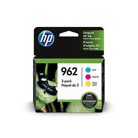 HP 962 Original Ink Cartridge, Cyan, Magenta, Yellow, Pack of 3 (3YP00AN)