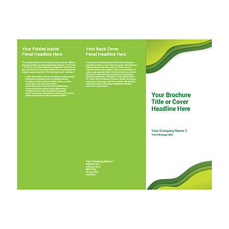 Customizable Trifold Brochure, Green Waves