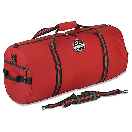 "Ergodyne Arsenal 5020S Standard Gear Duffel Bag, 12""H x 12""W x 23""D, Red"