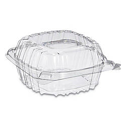 Dart ClearSeal Hinged Lid Plastic Containers