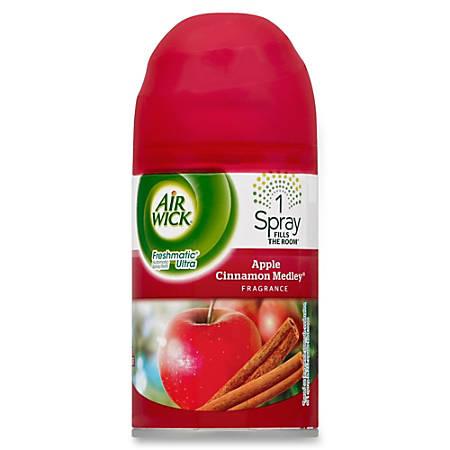 Air Wick Freshmatic Refill Apple/Cinnamon Spray - Spray - 6.17 oz - Apple, Cinnamon - 60 Day - 6 / Carton
