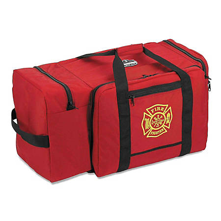 "Ergodyne Arsenal 5005 Large Fire & Rescue Gear Bag, Polyester, 15""H x 15""W x 30""D, Red"