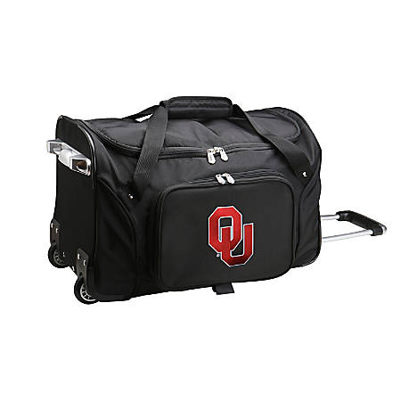 Denco Sports Luggage Rolling Duffel Bag, Oklahoma Sooners, Black