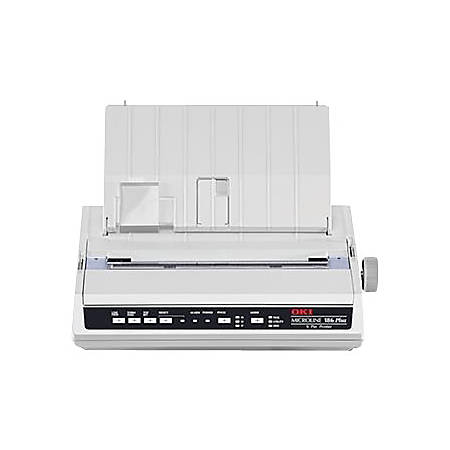 OKI Microline 186 Plus - Receipt printer - dot-matrix - 240 x 216 dpi - 9 pin - up to 375 char/sec - USB, serial - black
